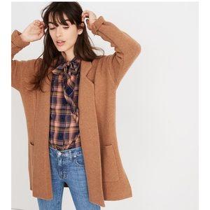 madewell spencer cardigan coat